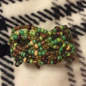Jewelry - Bohemian Style Beaded Cuff Bracelet
